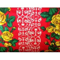 French floral cotton fabric