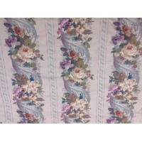 Design Inc, Floral/striped linen fabric